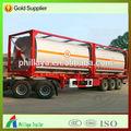 20ft, 40ft glp tanque contenedor con el volumen opcional