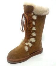 Elegant Wholesale Sheepskin Women Winter Boots