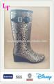 las mujeres de moda de alta del talón botas de goma