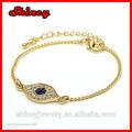 argento 925 2014 moda bracciale in oro malocchio con catena