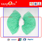 Green Transparent CPE Disposable Overshoes