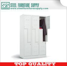 Z shape door locker/ white steel locker/ change room locker