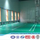 Low-cost synthetic badminton court flooring