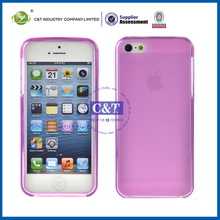 Fashion and Simple Design silicon bumper case for iphone 5