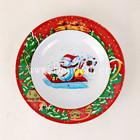 plastic christmas melamine food plate