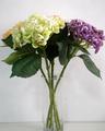 hortensia de seda de la flor artificial en el precio de fábrica para la decoración de la boda y la decoración de interiores