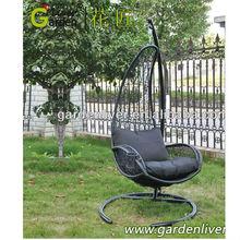 outdoor steel bird nest egg chair swing