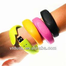 2014 fashional usb flash drive eco friendship silicone rubber bracelet usb