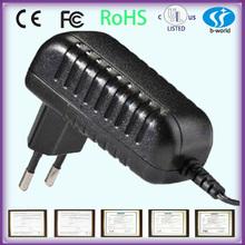 Eu plug ac adapter 12v 2A