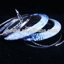 7 PC Bangle Set 5 Silver Bangles Plus Snake Skin Denium $1.25 PER SET