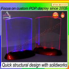 led acrylic table menu display holder/table stand menu holder/clear acrylic menu holder/