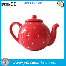 Porcelain red tea pot with infuser christmas gift portable