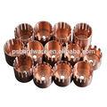 de cobre de torneado cnc mecanizado de piezas