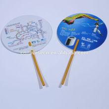 promotion plastic hand fans sticks