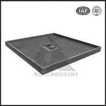 China grey duction iron OEM stanchion cast iron machine shower base