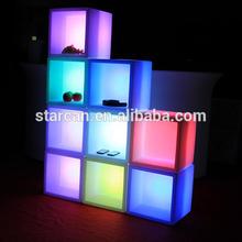 Bucket Design Morden Plastic LED cube furniture Wholesale From Guangdong LED Furniture