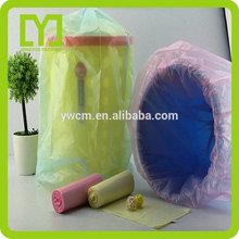 Yiwu thin hot pink garbage bags for trash