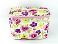 Ladies flower pattern make-up case/bag