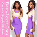 2014 corte quente para fora mangas 3/4 bodycon ebay venda vestidos