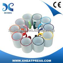 11oz Rim Color Mug for Heat Transfer Wholesale
