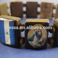 madera brazalete de estiramiento santos w bandera de nicaragua