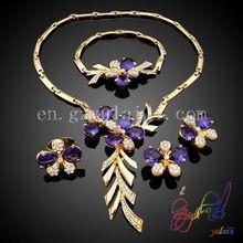 Yulaili hot selling women jewelry set sweety flower design full set bridal jewelry Italian style jewelry set
