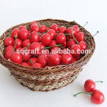 Fake fruit cherry decoration/fake fruit and vegetables/Yiwu sanqi craft factory
