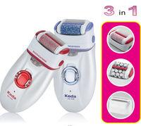electric hair, skin and callus remover 3 in 1 set(KEDA 191-B)