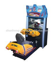Street simulating car racing machine