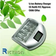 Universal 1.2v nimh nicd battery charger Alkaline AAA C D 9V 12V battery with USB OEM offer