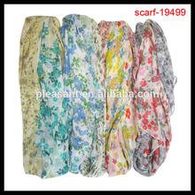 2014 ladies popular cheap floral print scarf decorations