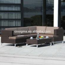 Modern style customized extra large rattan corner sofa
