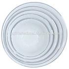 "set of 5 (6',7"",8"",9,10"")round shape silver rim porcelain bowls"