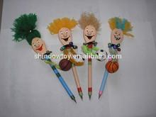 toy pen, cartoon pen, wooden toys