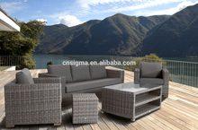 2014 Hot Wicker Outdoor corner sofa bed with storage