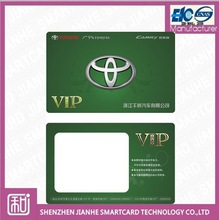 CR80 standard size thin PET Thermal Rewritable Card,Car Loyalty Card