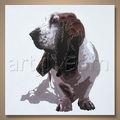 Atacado handmade famous pintura animal de cão