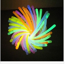 2014 fashion wholesale Different Styles Colorful Glowing Sticks Mickey Mouse Ears Headband and Hairpins/8'' glow stick bracel