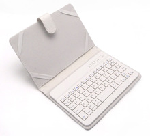 Wholesale 7inch tablet keyboard case white bluetooth usb port