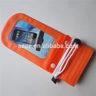 Top Quality orange PVC zipper waterproof bag for Sony Ericsson