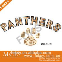 hot fix panther paw rhinestone iron on transfer