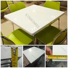 Square Big Sizes Four People Restaurant Dining Tables / Restaurant Tables