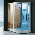 mavi buhar duş kabini kombine ormanlık sauna odası