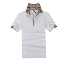 clothes online shopping mans high quality/plain cotton fabric polo shirt made in china