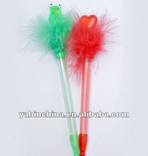 China New Item Promotional Feather Plastic Pen