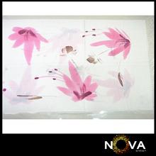 Fancy Accessories Women Muffler Flower Painting