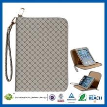 New Sublimation leather folio card holder case for ipad mini
