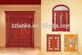chino de madera de la puerta