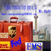 DHL UPS TNT EMS international alibaba express courier from China taizhou to Ireland Skype : andy_hxm