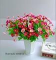 sj 2014 af013 al por mayor artificial flor de la margarita de colores falsos flores de margarita más baratos de plástico margarita flores para la decoración del hogar